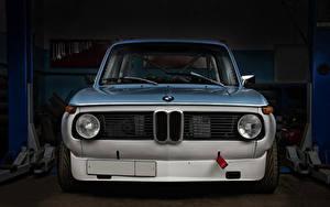 Картинка BMW Тюнинг Гаражом Спереди Фары 2002 Turbo Sport KB Автомобили