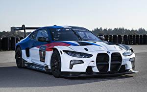 Обои BMW Стайлинг Белый 2021 M4 GT3 Автомобили