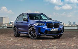 Картинка БМВ CUV Синий Металлик X3 M Competition, (Worldwide), (F97), 2021 Автомобили