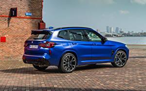 Картинки БМВ CUV Синих Металлик X3 M Competition, (Worldwide), (F97), 2021 Автомобили
