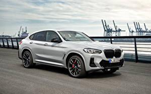 Обои БМВ Металлик Белая X4 M40i, (Worldwide), (G02), 2021 Автомобили
