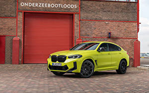 Фотография BMW CUV Салатовый Металлик X4 M Competition, (Worldwide), (F98), 2021 Автомобили