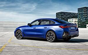 Фотографии БМВ Синий Металлик i4 M50, (Worldwide), (G26), 2021 Автомобили