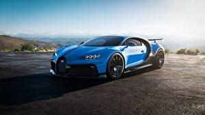 Обои BUGATTI Синяя Металлик Chiron, 2020, Pur Sport авто