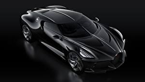 Картинка BUGATTI Черных Черный фон La Voiture Noire машина