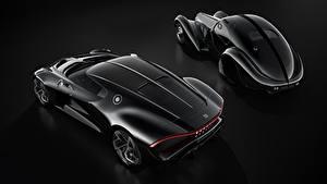 Фотографии BUGATTI Черная На черном фоне La Voiture Noire авто