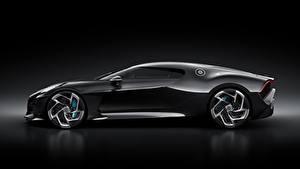 Обои для рабочего стола BUGATTI Сбоку Черные Черный фон La Voiture Noire автомобиль