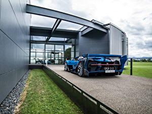 Фотографии BUGATTI Сзади Синий Vision Gran Turismo авто