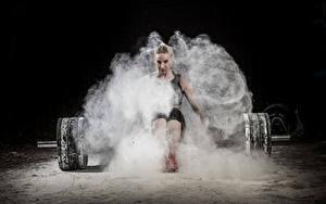 Картинка Штанга Физические упражнения Девушки