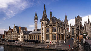 Картинка Бельгия Гент Дома Улица