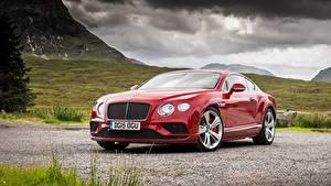 Фото Бентли Роскошные Красный Купе Continental GT, Speed UK-spec, 2015 автомобиль