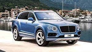 Фото Бентли Роскошные Синий CUV Металлик Bentayga Diesel, 2016, «Deluxe suite» Автомобили