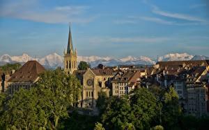 Фотография Берн Швейцария Здания Башня город