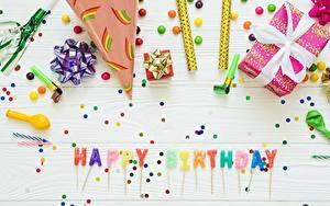 Картинки День рождения Английский Подарок Слова