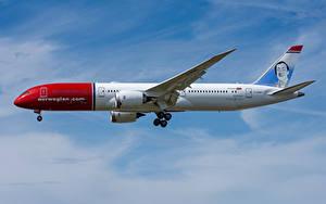 Фотография Боинг Самолеты Пассажирские Самолеты Сбоку 787-9, Norwegian Air