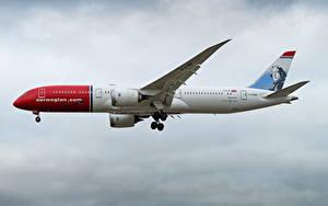 Обои Boeing Самолеты Пассажирские Самолеты Сбоку 787-9, Norwegian Air