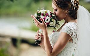 Фотография Букеты Невеста Руки Девушки
