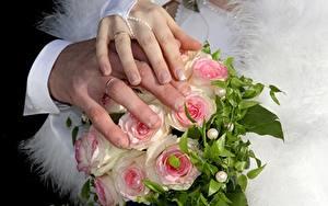 Картинки Букеты Пальцы Руки Свадьба Маникюр Кольцо
