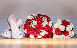 Фотография Букет Розы Туфель Свадьбы