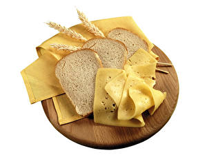 Картинки Хлеб Сыры Белый фон Колос