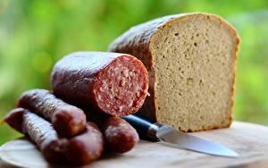 Картинки Хлеб Ножик Колбаса