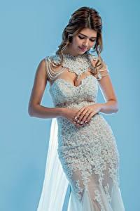 Картинки Невеста Платье Руки Поза молодые женщины
