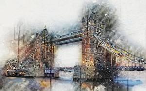 Обои Мост Англия Лондон город