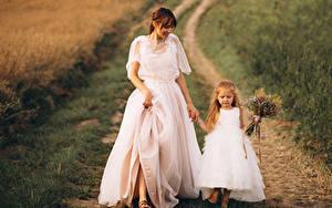 Фотография Шатенка Невеста Девочки Платье 2