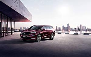 Картинки Buick Кроссовер Бордовый Металлик 2019 Enclave Avenir машины