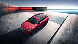 Обои Buick Красных CUV Сверху 2020 Envision S Автомобили