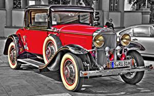 Фотографии Buick Старинные Красный 1931 66 S Sport Coupe Автомобили