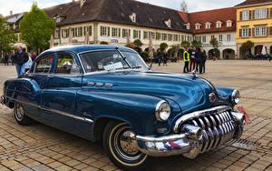 Обои Бьюик Ретро Синих Металлик 1949 Special Tourback машины