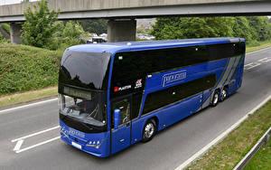 Фото Автобус Синий 2018 Plaxton Panorama Авто