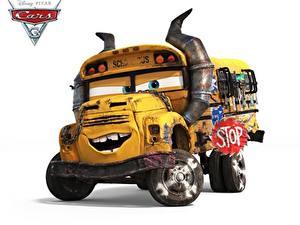 Картинки Автобус Тачки 3 Белым фоном school bus мультик