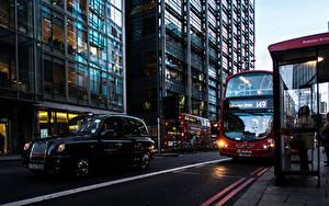 Фотография Автобус Англия Улиц Лондон