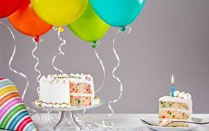 Фотография Торты День рождения Воздушный шарик