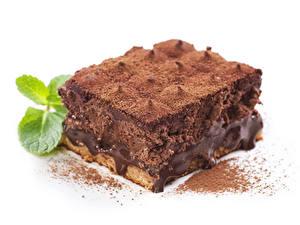 Фотография Торты Пирожное Шоколад Часть Какао порошок Еда