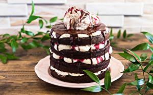 Обои для рабочего стола Торты Шоколад Дизайна Пища