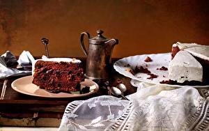 Обои Торты Кофе Тарелке Ложки Часть Пища