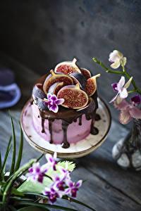 Картинка Торты Инжир Шоколад