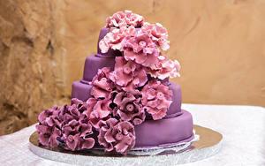 Картинка Торты Дизайн Фиолетовый
