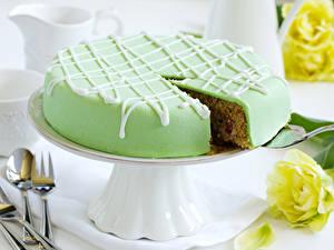 Картинка Торты Зеленые Продукты питания