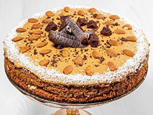 Обои Торты Орехи Шоколад Миндаль Дизайна Пища
