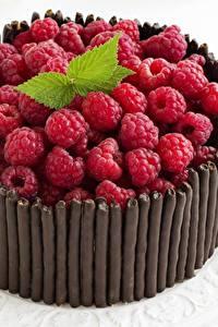 Обои Торты Малина Шоколад Продукты питания