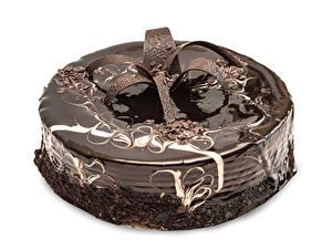 Обои Торты Сладкая еда Шоколад Белый фон Дизайн