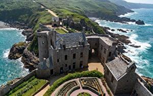 Фото Замок Франция Сверху Fort-la-Latte, Brittany, Bay of Saint-Malo город
