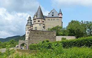 Картинки Замок Германия Castle Buerresheim