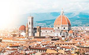 Фотографии Собор Италия Флоренция Дома Cathedral of Santa Maria del Fiore город