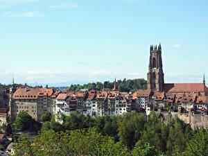 Картинки Собор Швейцария Дома Fribourg, Cathedral St. Nicholas