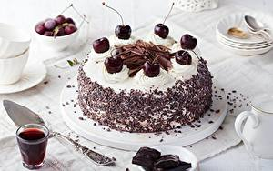 Фото Вишня Торты Шоколад